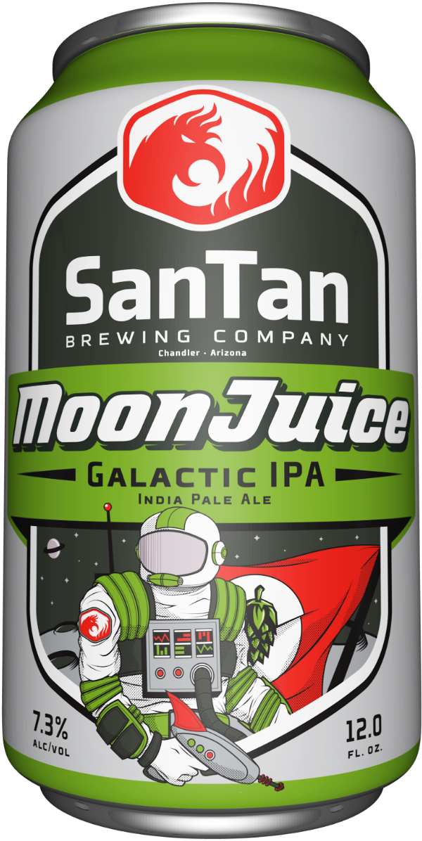 A can of MoonJuice IPA from SanTan Brewing Company
