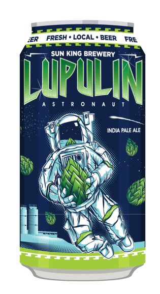 A can of Lupulin Astronaut from Sun King Brewery